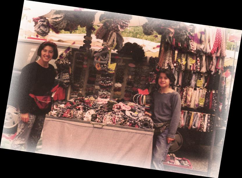 Papa pique et Maman Coud sur les marchés bretons
