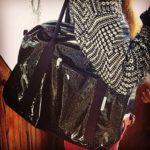 Lintemporel de Pauline  le sac bowling noir paillet hellip