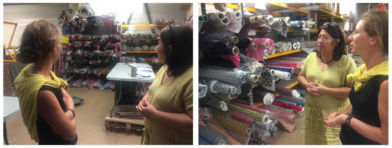 Visite de nos stocks tissus destinés à la vente en ligne