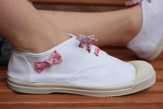 tutoriel : customiser ses chaussures avec tissu blog ppmc