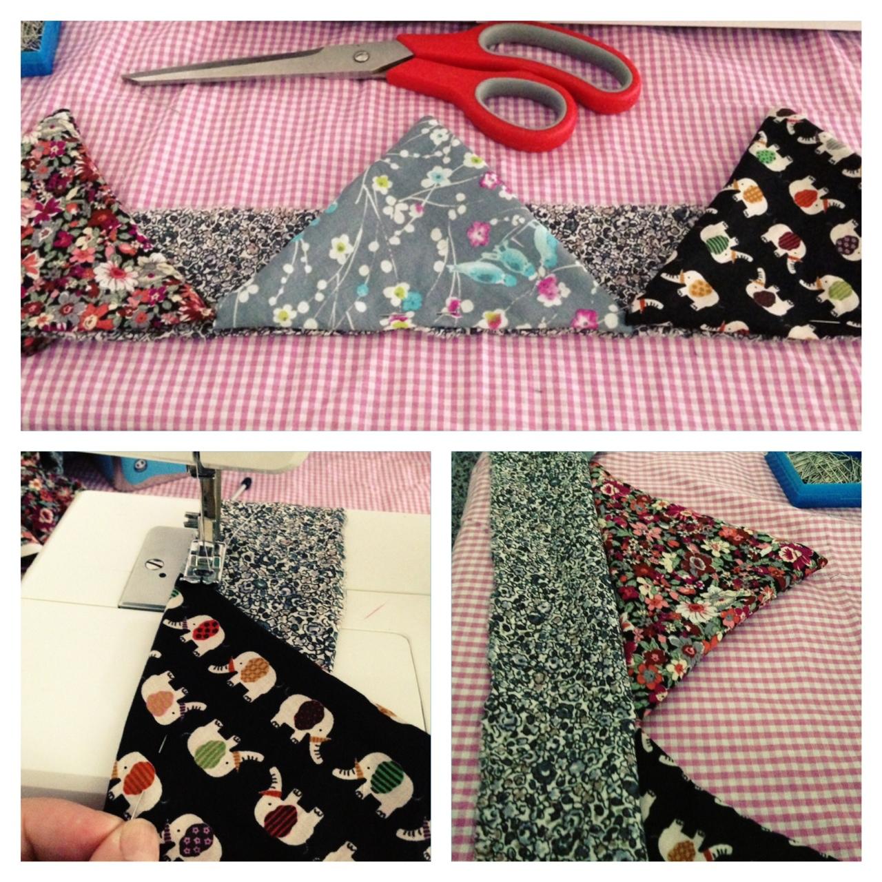 tutoriel couture fanions en tissu