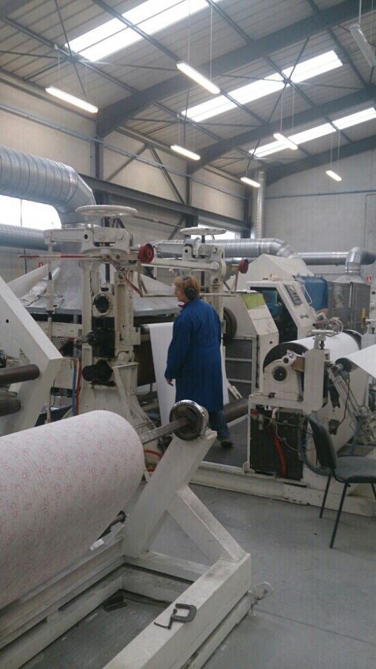 enducteur usine de tissu