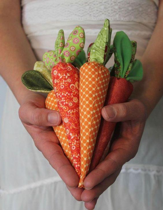 Jolie carottes en tissu