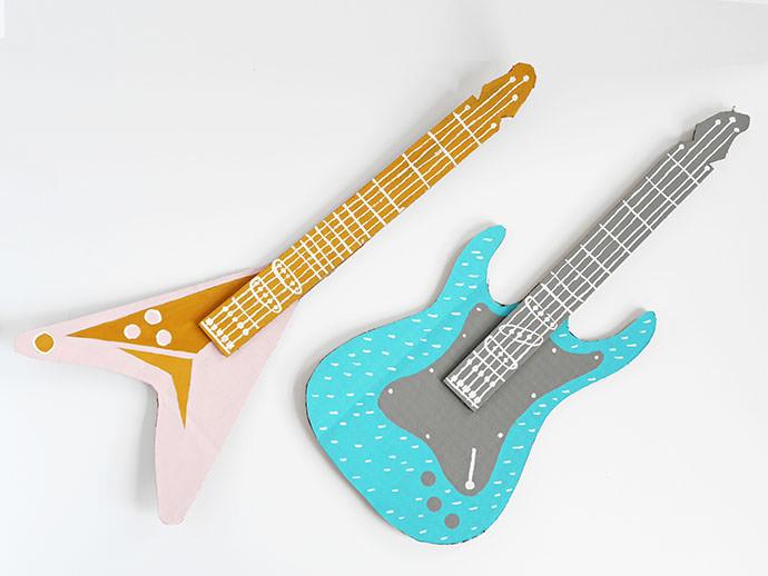 diy guitare carton
