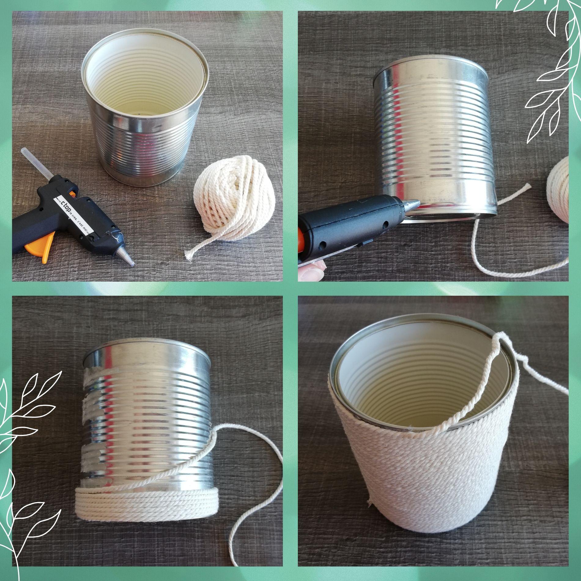 recycler boîte de conserve en pot