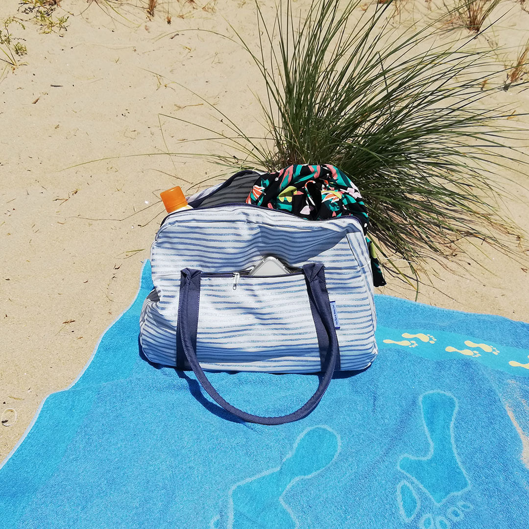 sac de plage grand papa pique et maman coud