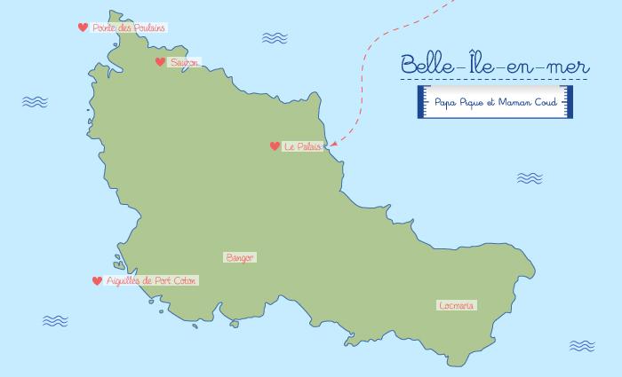 carte belle ile en mer