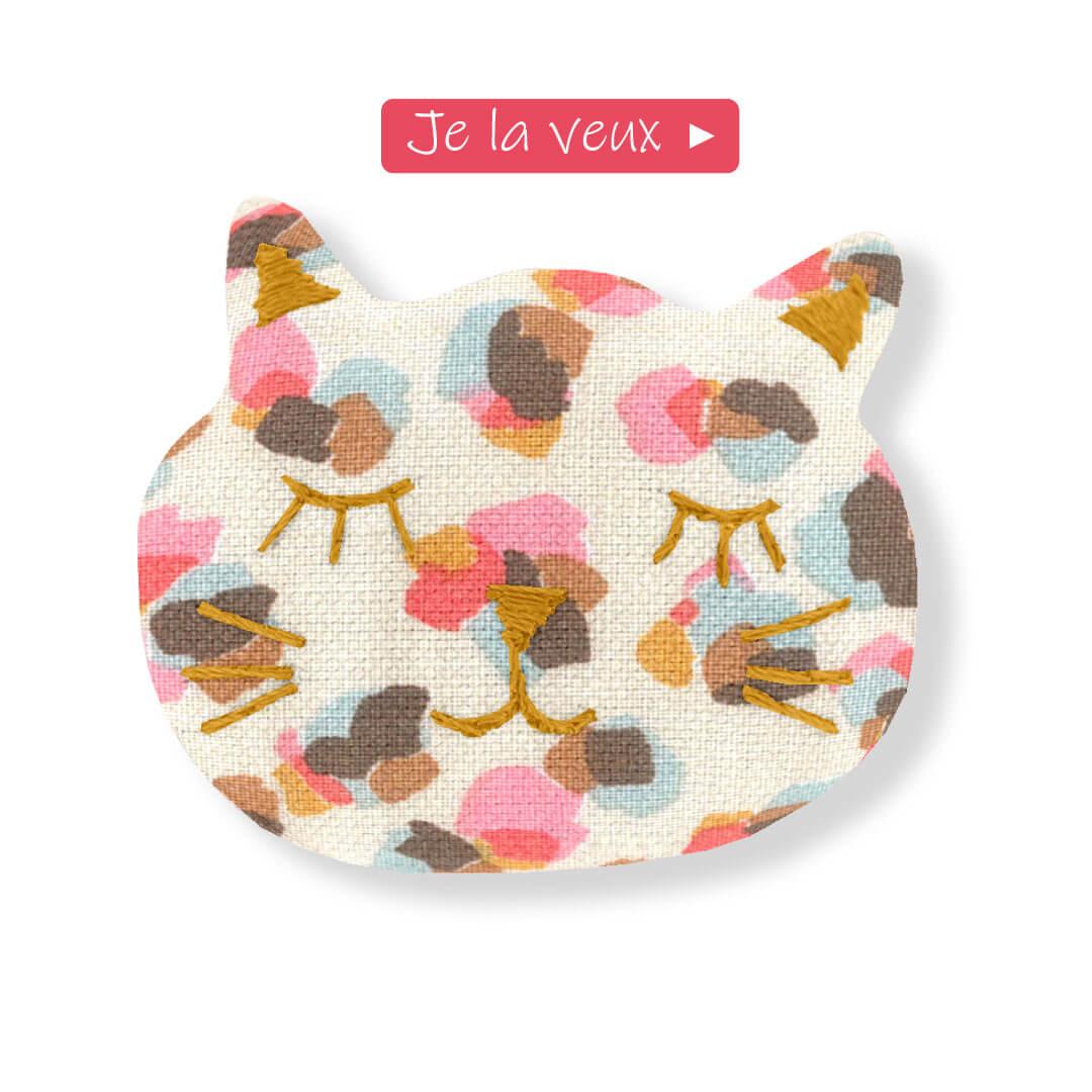 barrette chat confetti aqua ppmc