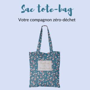 Le sac tote bag : 100% réutilisable et zéro-déchet.