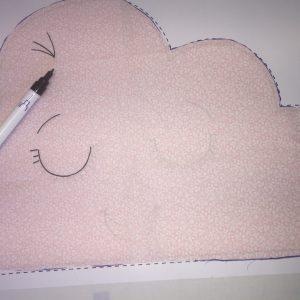 Réalisez le dessin du visage de votre coussin en tissu PPMC